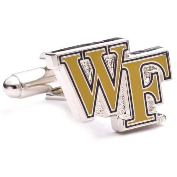 The official logo of the Wake Forest Demon Deacons. Enamel finish cufflinks on a nickel plated backing. Licensed by the NCAA. Officially licensed NCAA cufflinks