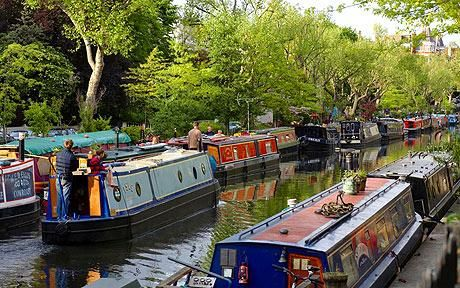 Little Venice, London. This is pretty much going to be my backyard for three weeks.