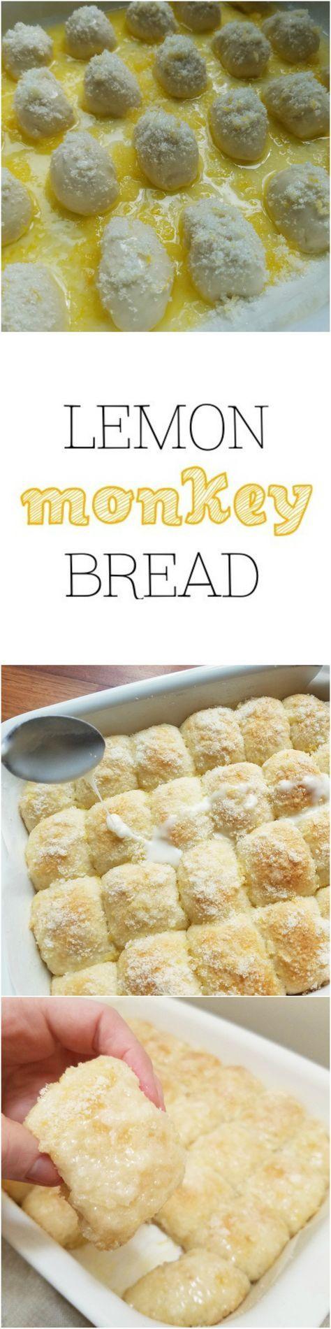 Easy Lemon Monkey Bread using frozen Rhodes rolls - by Rumbly in my Tumbly