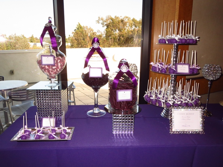Dark Purple And Diamond Candy Table By Oc Sugar Mama