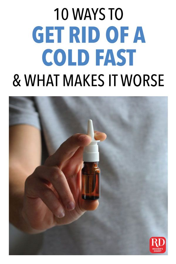 How To Get Rid Of A Cold Naturally Fast