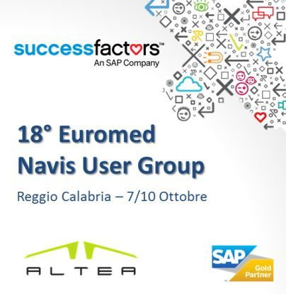 #ALTEA, #SAP Italia e #SuccessFactors credono che un'Azienda di successo, per esserlo realmente, debba valorizzare le proprie #risorse #umane. All'evento NUG, 7/10 Ottobre, ALTEA presenta l'innovativa offerta SAP SuccessFactors per la gestione di #talenti, #goals e #obiettivi, #learning, #recruiting, pianificazione della forza #lavoro.