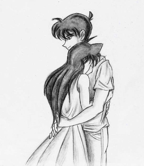 Anime couple hugging drawings in pencil of people best wallpaper animedrawing animecouple
