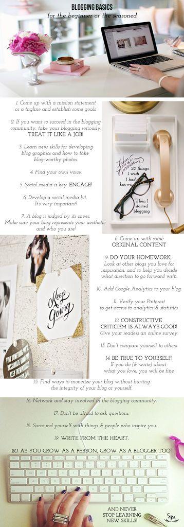Blogging Basics: 20 Things I Wish I Had Known by @saramueller