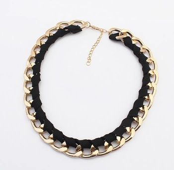 2015 New Arrival Fashion Jewelry Trendy Women Necklaces & Pendants Weave Link Chain Short Chokers Necklace For Gift Party