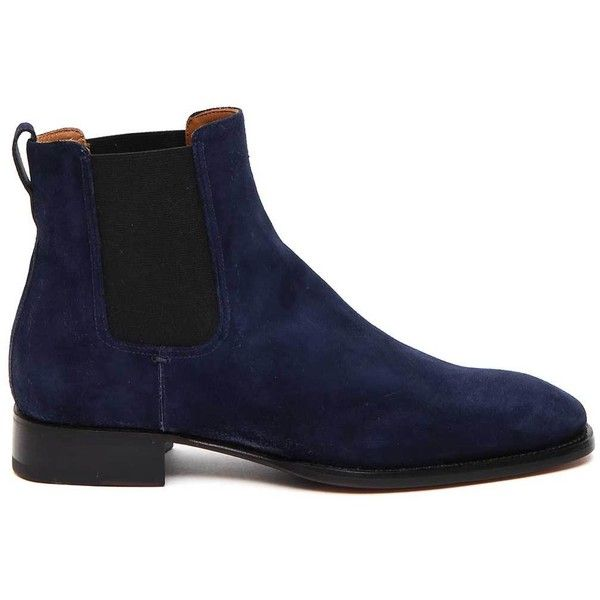 Suede Boots ($455) ❤ liked on Polyvore featuring men's fashion, men's shoes, men's boots, blu, mens suede boots, mens blue boots, mens blue shoes, mens suede shoes and mens blue suede boots