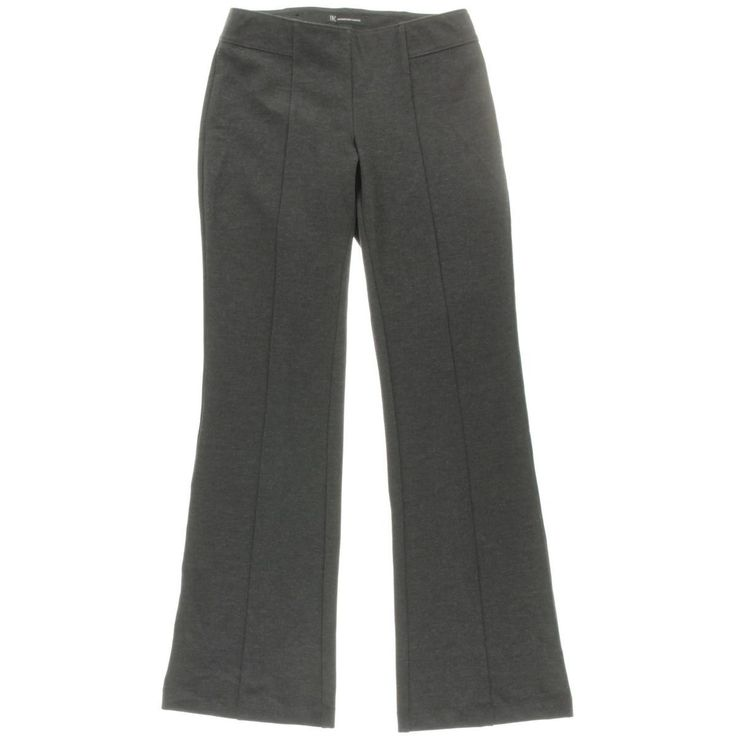 INC Womens Heathered Curvy Fit Bootcut Pants