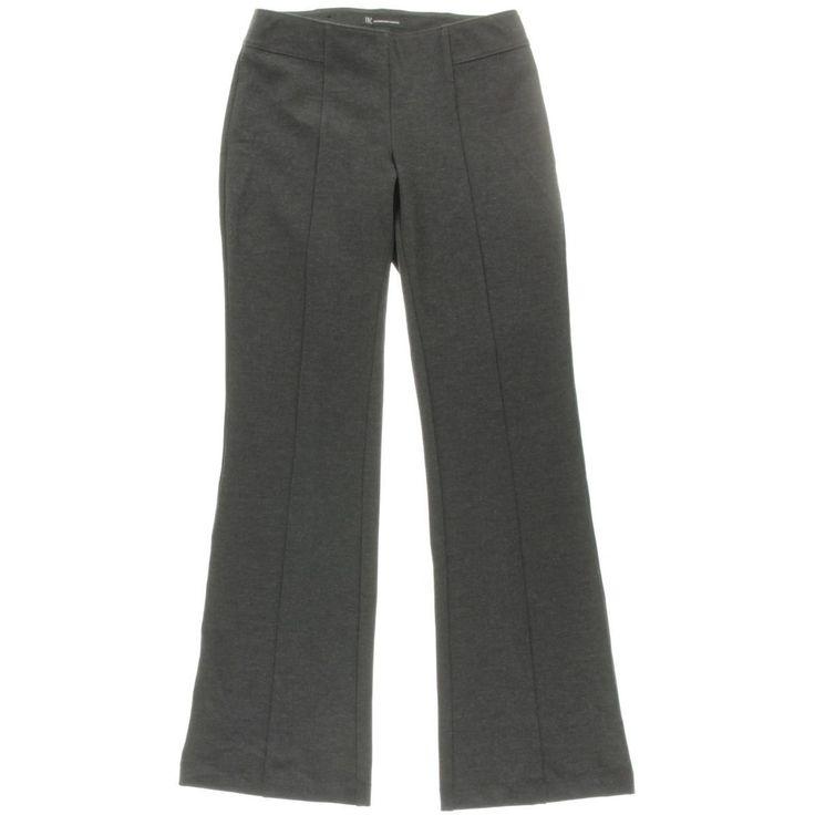 INC Womens Heathered Curvy Fit Bootcut Pants