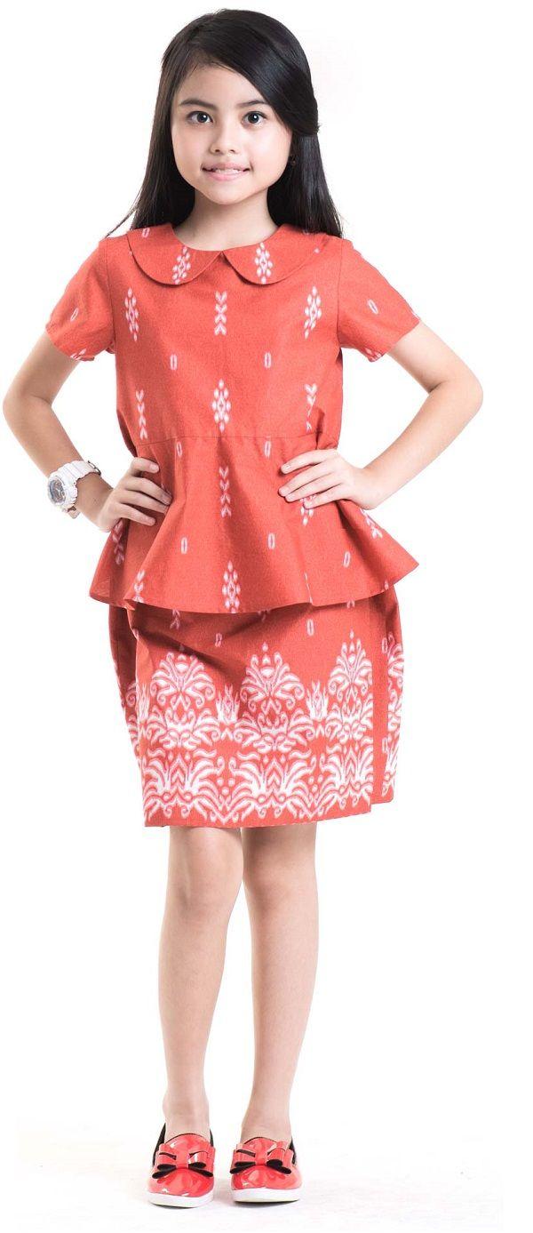 Model Baju Batik Anak Perempuan Umur 8 Tahun Batik Loka Jaya In