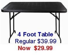 4 Foot Folding Table