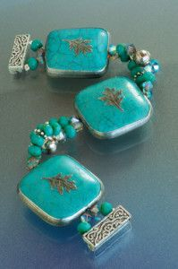 Creative Company | Pewter it – Turquoise bead bracelet