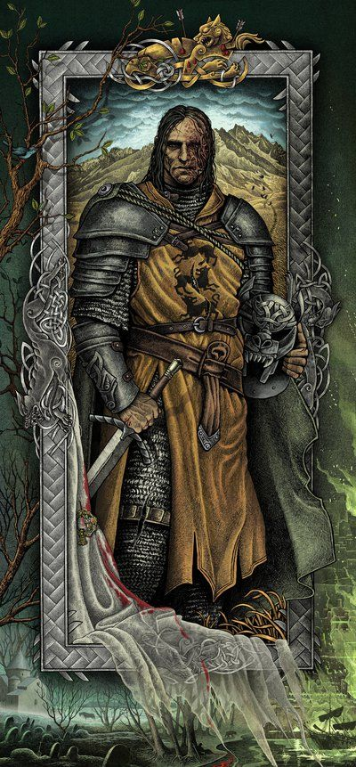 Sandor Clegane by bubug on DeviantArt. This woman puts so much detail into her work. She's amazing.