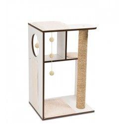 Mueble Rascador para Gatos V-Box Vesper - Blanco Grande