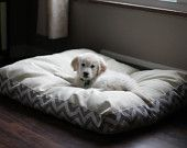 Custom Dog Bed, Washable. $45.00, via Etsy.