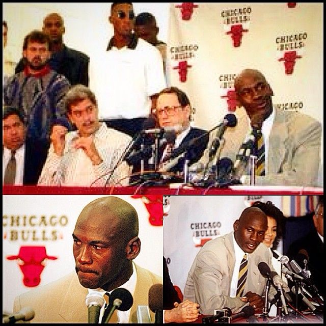 FEED | Websta - @get1later On this Date (1993)Michael Jordan Announced his FIRST RETIREMENT from the Chicago Bulls & The NBA after 9 seasons (& less than 4 months after leading the Bulls to their 3rd consecutive NBA Trophy in the 1993 NBA Finals over the Phoenix Suns). He announced his return to the NBA on March 18, 1995 and 24 hours later played in a game against Indiana at Market Square Arena, #photogrid @photogridorg #MJ #BULLS #NBA