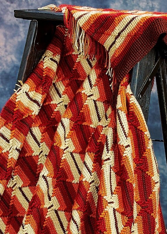 Indian Summer  Navajo afghan (close up view)