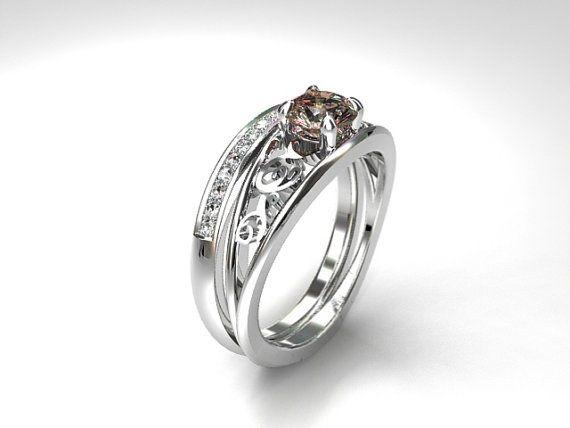 Celui Engagement Ring Set with Morganite