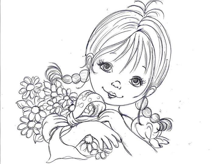 Risco menina -  Nara Liane