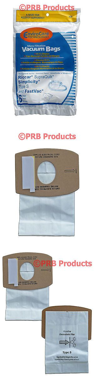 Vacuum Cleaner Bags 20618: Allergy Bag Fits Simplicity Type S Canister Hand Vacuum Cleaner Model Sport S100 -> BUY IT NOW ONLY: $65.45 on eBay!