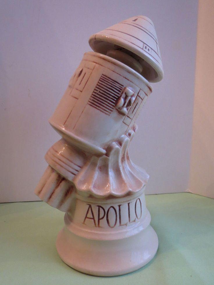 1970 McCoy Pottery Thomas Sims Apollo Capsule Rocket NASA Moon Race Decanter