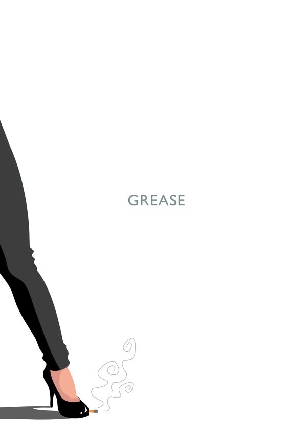 Grease - minimal movie poster - Manon Champredon
