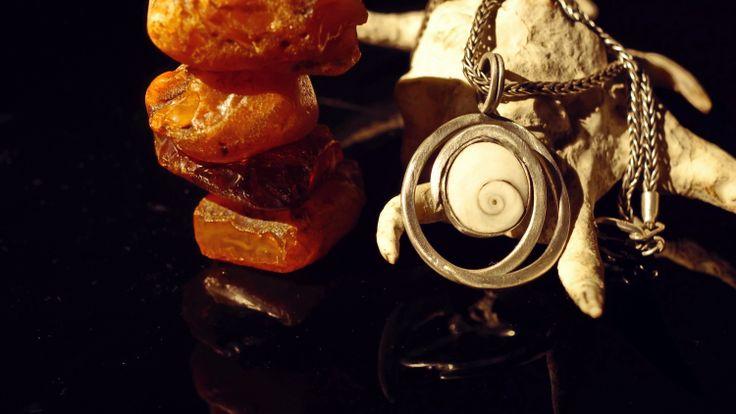 Shiva eye Silver pendant