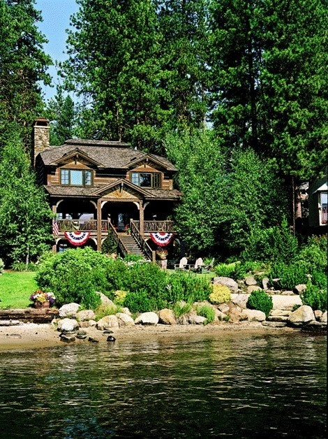 1000 ideas about log home builders on pinterest log for Lake cabin kits