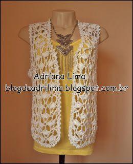 Adriana Lima: Coletinho Summer em crochê