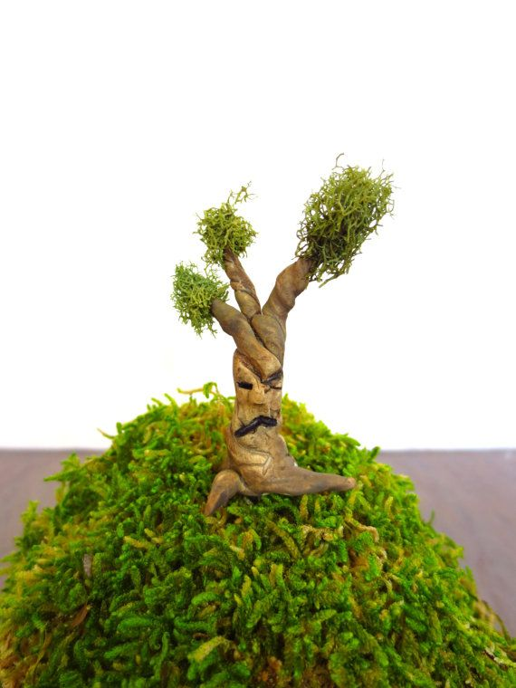 Troublesome Tree...Fairy House Miniature One Clay by FaerieNest, $11.00