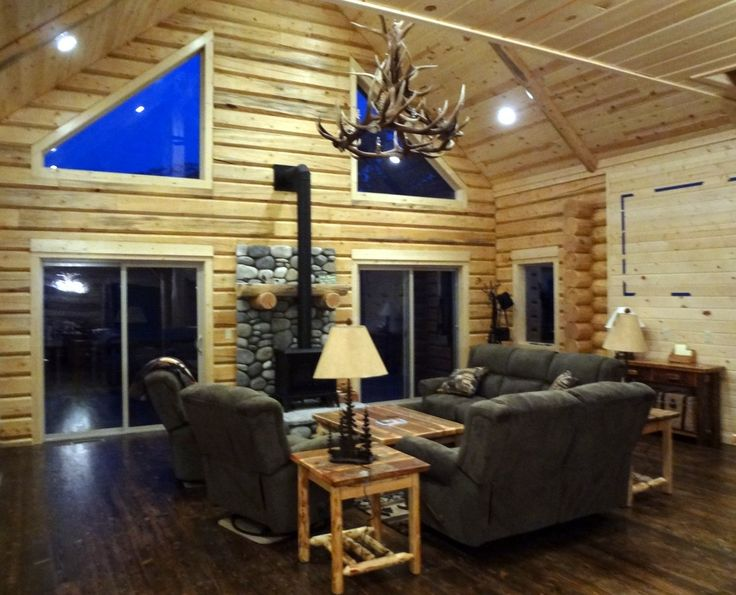 log living room set coffee table end tables and sofa table the caddis shack a madison river vacation rental