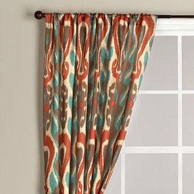 diva ikat curtain colorful ikat fabric choice from world market the rusty red