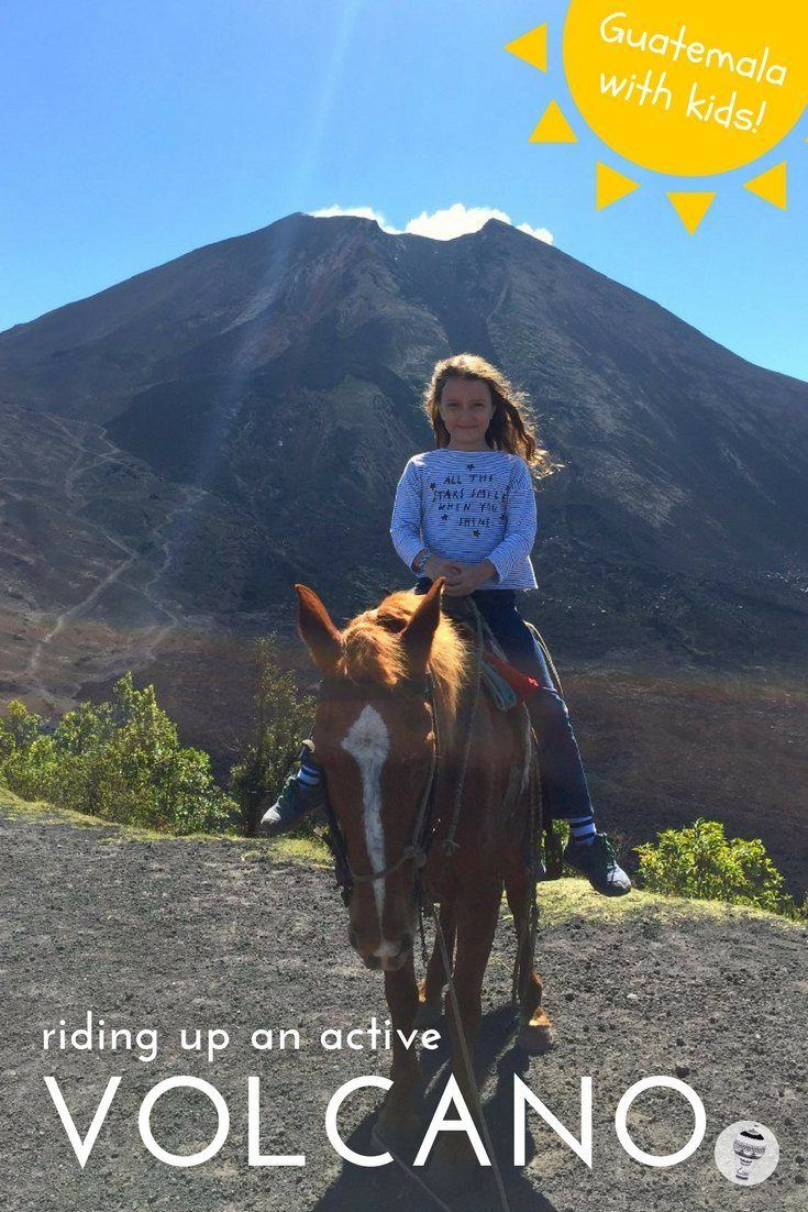 Guatemala with Kids: How to climb Pacaya Volcano, one of Guatemala's 37 volcanoes, near the town of Antigua and roast marshmallows at the top.