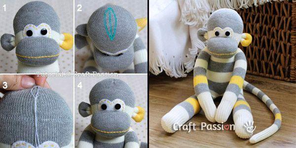 игрушка обезьянка своими руками