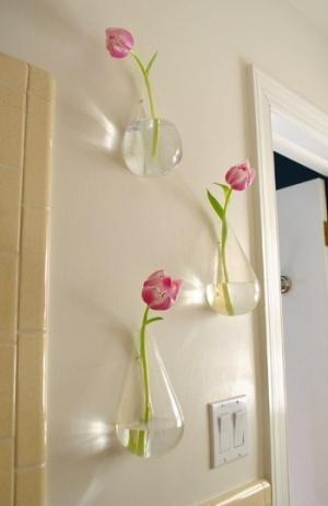 Decorando con flores y frascos