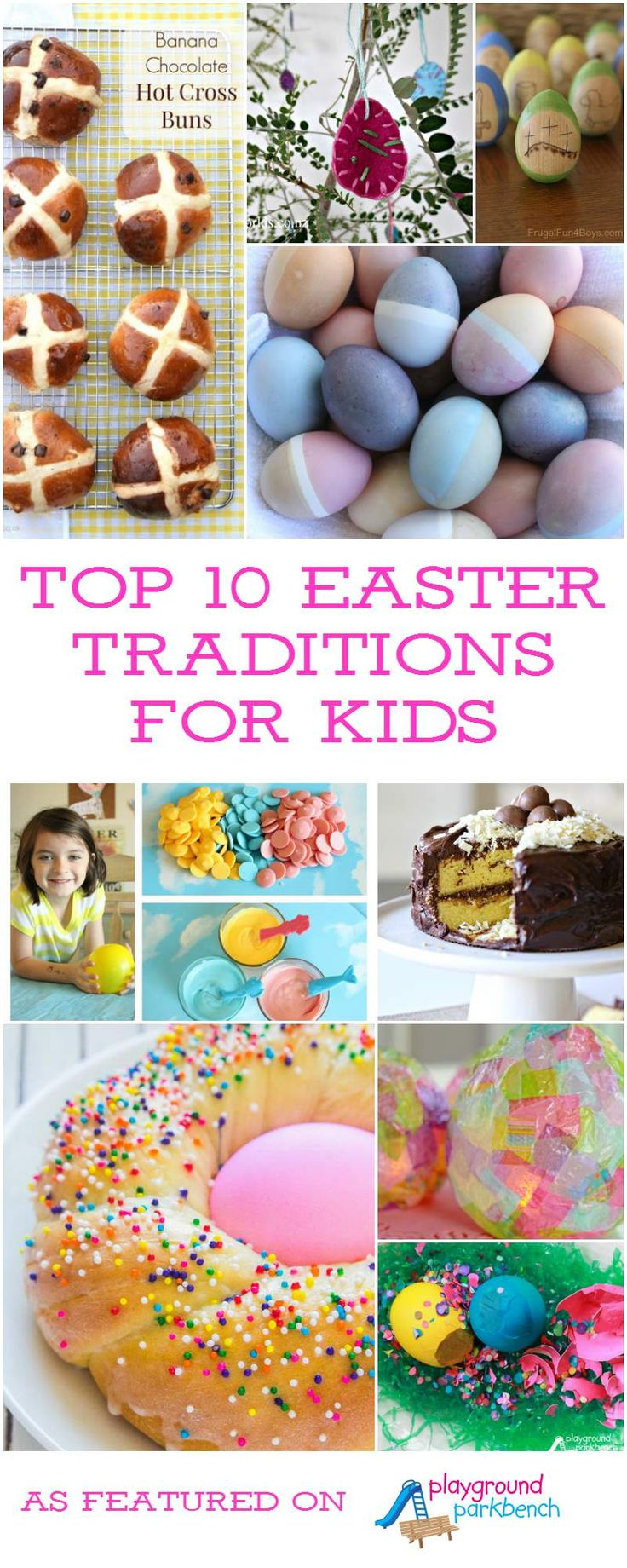 Celebrate Easter Sunday with these fun, festive, unique and creative Easter traditions for kids from across the country and around the world! Featuring recipes, crafts, decorations and more! | Easter | Crafts for Kids | Cooking with Kids | Easter Eggs | Holiday | Easter Traditions | Resurrection |