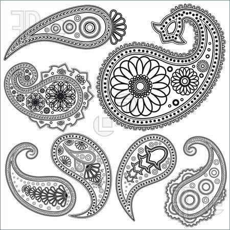 Illustration of Eps Vintage Paisley  patterns for design. Illustration for your design.