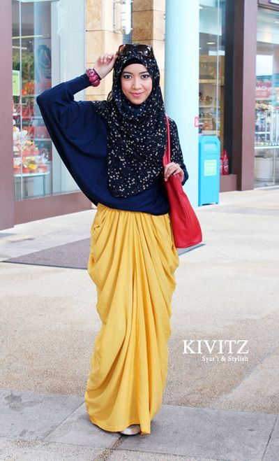 HIJAB FASHION. I want this kind of fashion but my height is not enough..