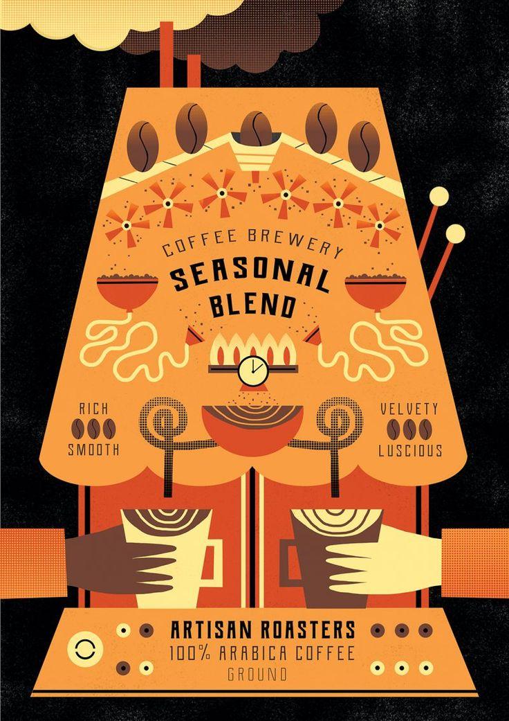 Rachael Saunders' striking new coffee packaging designs