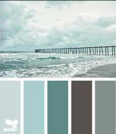 Sea green blues, black, grey color combos/ scheme
