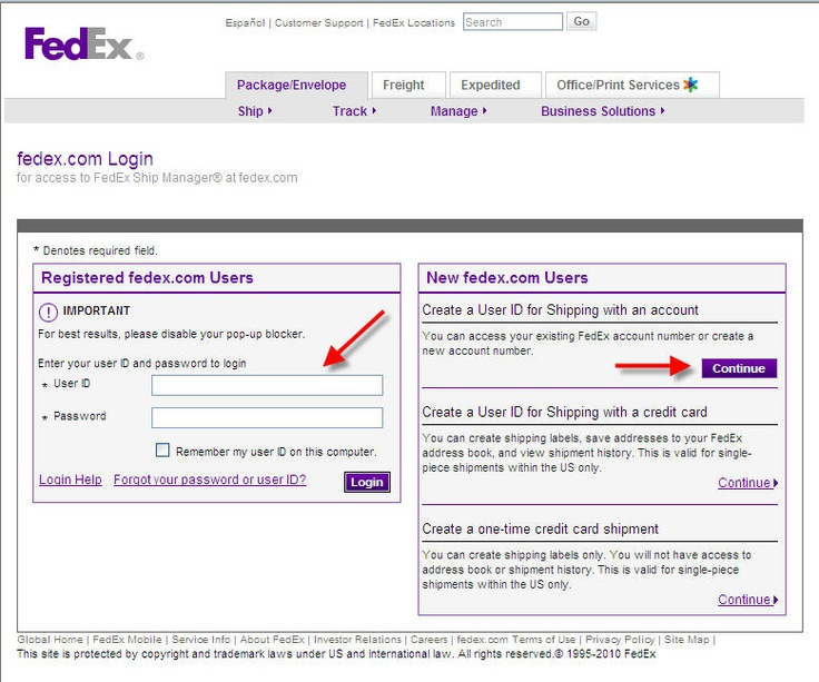 login screenjpg (778×648) Web App Design Inspirations - fedex careers