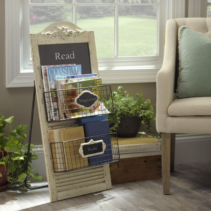 Personalize your organization with our Rustic Chalkboard Magazine Rack. Now on sale through May 10 for $49.98, originally $69.99.