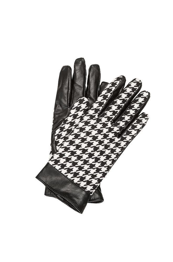 Rękawiczki w pepitkę, bimaterial
