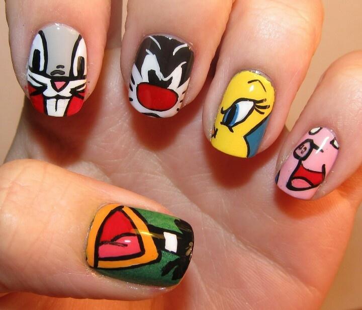 Character Design Nails : Cartoon character nails nail art pinterest