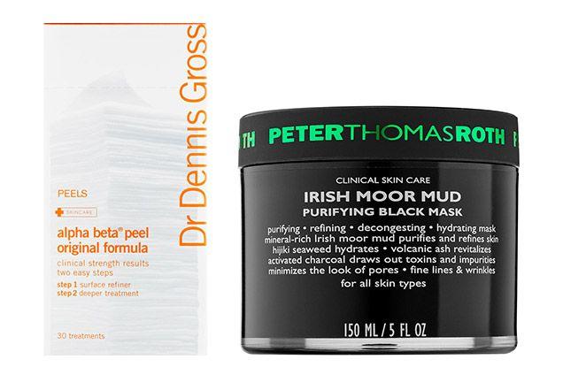 Dr. Dennis Gross Skincare Alpha Beta Universal Daily Peel and Peter Thomas Roth Irish Moor Mud Purifying Black Mask   allure.com
