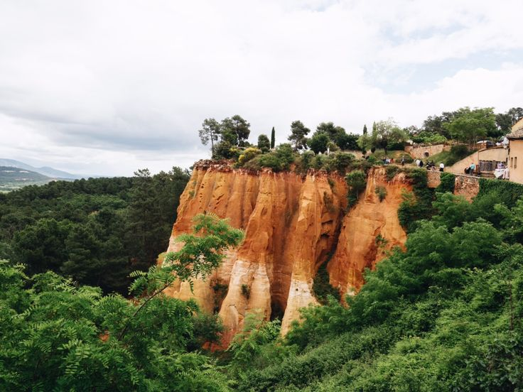 the red cliffs of roussillon france | 24 hours in provence travel guide by coco kelley