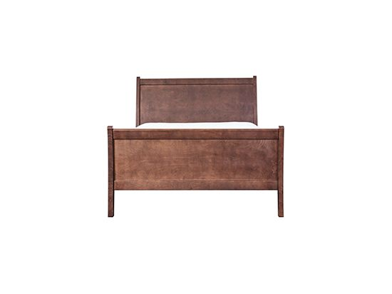 Scandinavian Designs - Hand crafted by skilled artisans in Oregon in Pacific Coast Maple with a mocha finish from one of the most sustainable forests in the world. Features gently flared head and foot board.  Storage pieces feature French sliding dovetailing and metal drawer handles. This is American made quality to last a life time! Also available in eastern king size. Not available in Southern California. Now take 25% off mattresses with the purchase of any regularly priced bed.