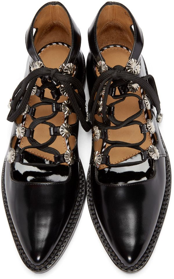 Toga Pulla - Black Western Oxfords