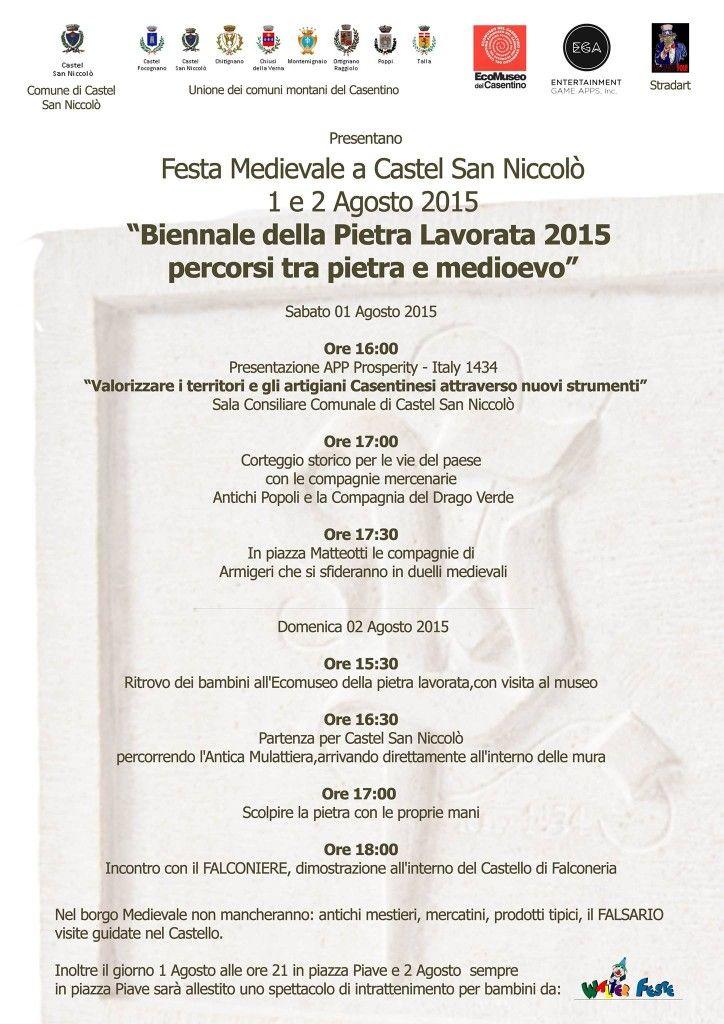 Italia Medievale: Festa Medievale a Castel San Niccolò (AR)