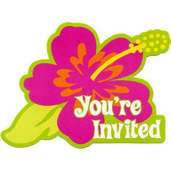 Theme birthday party hawaiian luau party ideas for party invitations