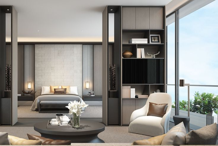 scda mixed use development sanya china show villa type 2 master suite luxury residences. Black Bedroom Furniture Sets. Home Design Ideas